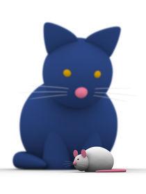 Katze und Maus mit Schärfentiefe von dresdner
