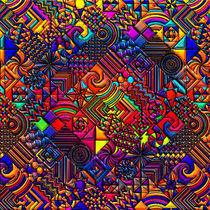 digital quilt modern retro von Blake Robson