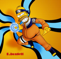 homer naruto by ambroise catherine