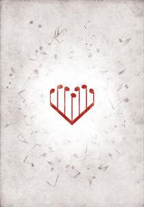 Music Heart gray by Luka Balic