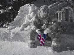 Remembering911-snowsculpture