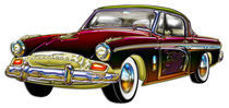 Classic Custom Studebaker Designer Finish, Trim and Dragon Graphic by Blake Robson