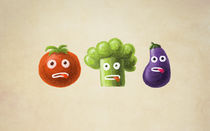 Funny Vegetables by Boriana Giormova
