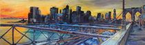 Auf der Brooklyn Bridge von Ulla Schönhense