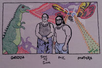 Godzilla, son of Sam, me, and Mothra by Beppi Isbert