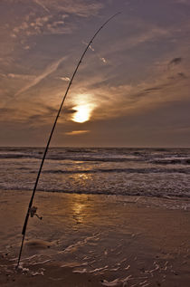 Fishing on the Beach von Michael Beilicke