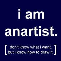 i am anartist (blue) by georgios drakakis