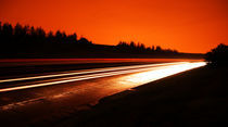 A night on motorway by Carlos Filipe Flores
