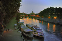 Boats on the Tiber by Ed Rooney