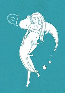 Axolotl love von Kate Hasselnott