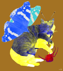 Insekto Cat Collage 3 by Marko Köppe