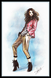 Fashion illustration-Addison Gill von Tania Santos