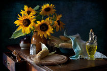 Sonnenblumen und Mais von Elena Alimova