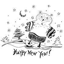 Happy New Year! von Varvara Kurakina