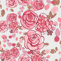 floral pattern with roses  by Varvara Kurakina