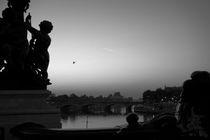 PARIS SEINE RIVER AT DAWN ALEXANDER III BRIDGE  by Paul Bellevie