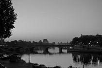 PARIS SEINE RIVER AT DAWN CONCORDE BRIDGE by Paul Bellevie