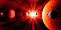 Red solar System. by Bernd Vagt