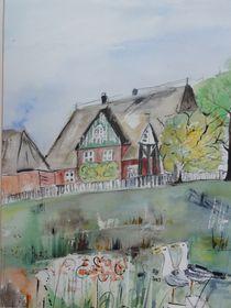 Kirchwarft auf Hallig Hooge by Annegret Hoffmann