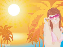 Summer girl at sunset by lauryn