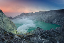 Sunrise in Ijen crater  by Alexey Galyzin