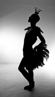 Burlesque Dancer Silhoutte by Buster Brown Photography