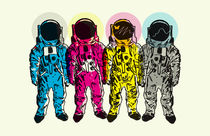 CMYK Spacemen von Matt Fontaine