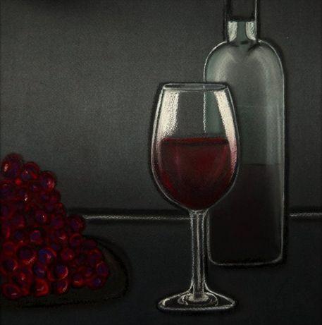weintrauben weinglas flasche zeichnung als poster und kunstdruck von anke franikowski. Black Bedroom Furniture Sets. Home Design Ideas