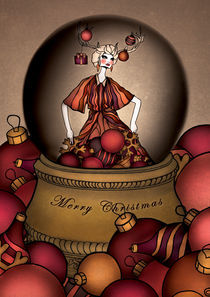 Dollhouse Christmas Card by annabours
