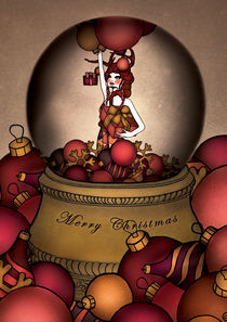 Dollhouse Christmas Card von annabours
