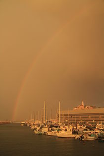 TelAviv-Yafo, a rainbow over Old Jaffa port by Hanan Isachar
