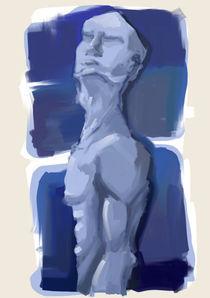 hombre azul von jose Manuel del Solar