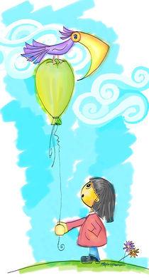 Green balloon von Paloma Herrera