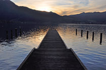 Bootssteg am Tegernsee by Frank Rother