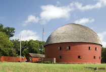 Route 66 Round Barn by Betty LaRue