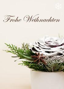Weihnachtskarte Sternanis by Sonja Dürnberger