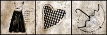 Kleid,Herz und Regenschirm von Christine Lamade