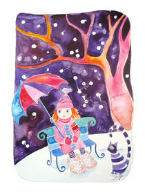 Ginger girl in the snow by Jana Nikolova