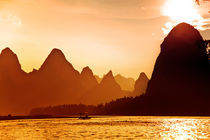 Li river sunset by Alexey Galyzin