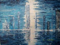 Silhouette in blau by Heinrich Reisige