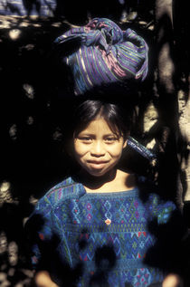 MAYA GIRL Antigua Guatemala by John Mitchell