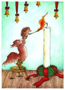 Advent gibt es nur mit Kerzen von Katja Kiefer