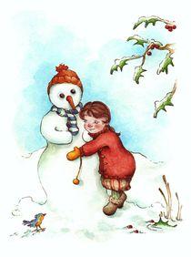 Ein Schneemann als Freund von Katja Kiefer