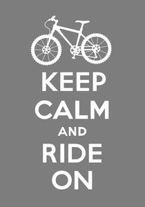 Keep Calm and Ride On - grey von Andi Bird