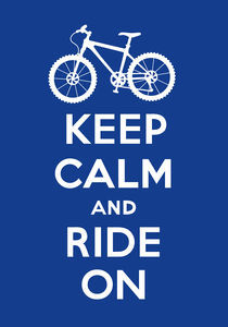 Keep Calm and Ride On - navy von Andi Bird