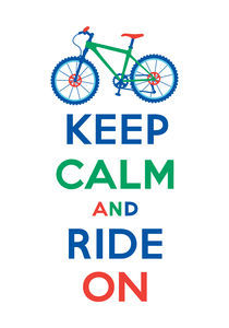Keep Calm and Ride On mountain bike - multi color von Andi Bird