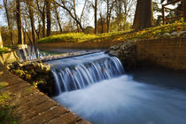small waterfall in the park by Anna Minina