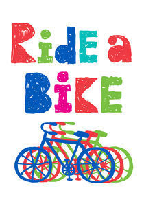 Ride a Bike - sketchy by Andi Bird