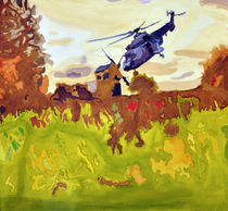 Mrs Mill and Mr Helicopter  von Gordana Batic