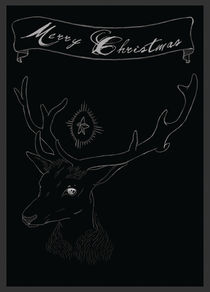 Deer Christmas by Nicole Volbeda